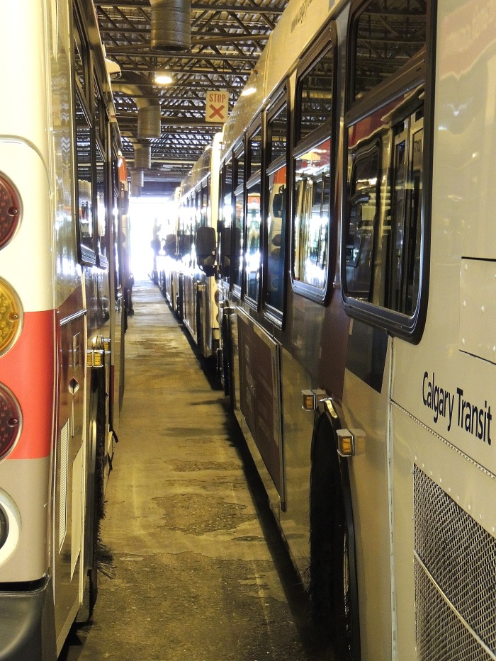 behind the scenes look at the oldest Calgary Bus Depot located near the Stampede grounds