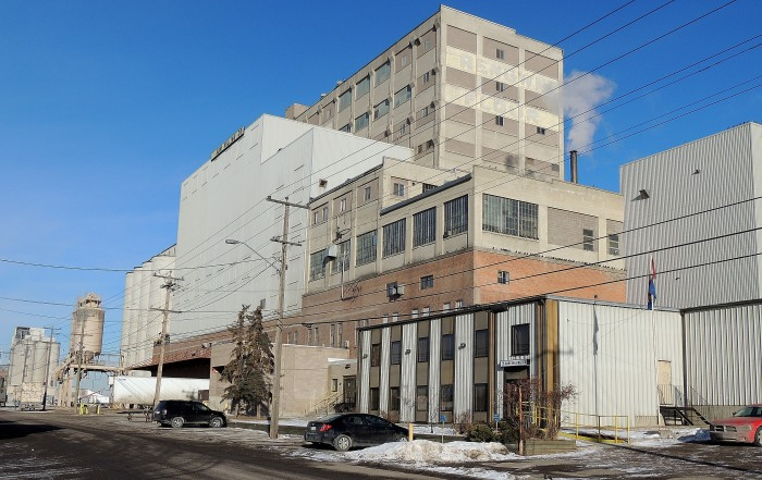 """ADM Milling Co.""""Our Canadian wheat mills, which produce a host of flours, bakery mixes, and ingredients such as bran and wheat germ, are located in Calgary and Medicine Hat, Alberta; Winnipeg, Manitoba; Montreal, Quebec; and Midland, Mississauga, and Port Colborne, Ontario. Their collective daily processing capacity is approximately 4,000 metric tons."""" - Company website"""