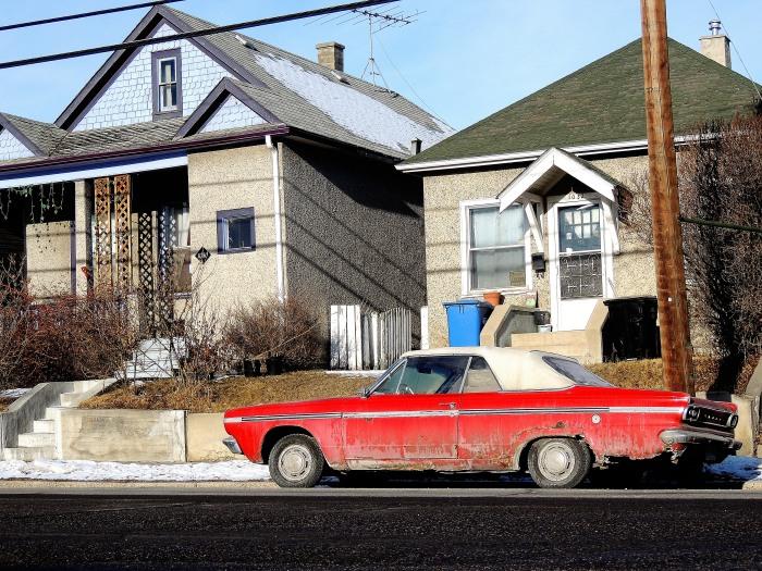 driving along an older street...