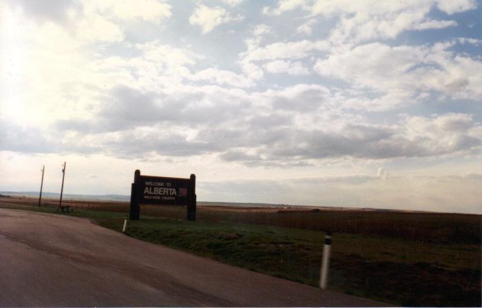Alberta border