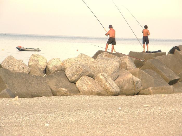Fishermen - Paola, Italy - Mediterranean Sea