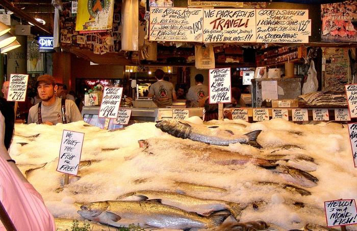 The famous Pike Place Market, Seattle, Washington.