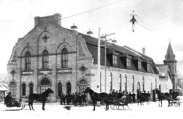 This beautiful Opera House opened in 1893 and by 1963 it was demolished to make way for a parking lot in Calgary's downtown core.