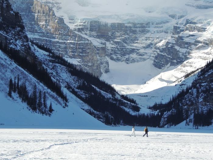 Snowshoeing on the lake…