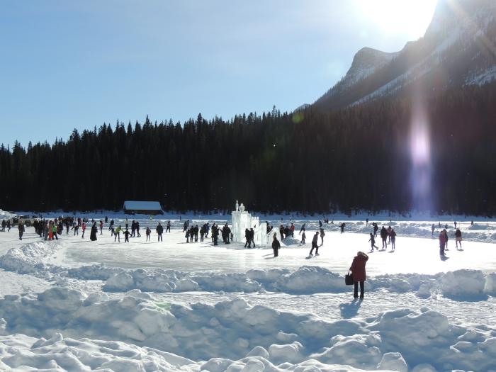 Skating around the ice castle...