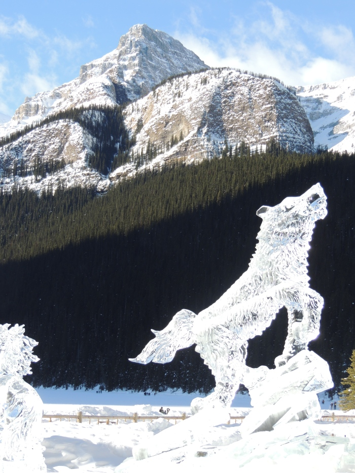 An icy wolf…