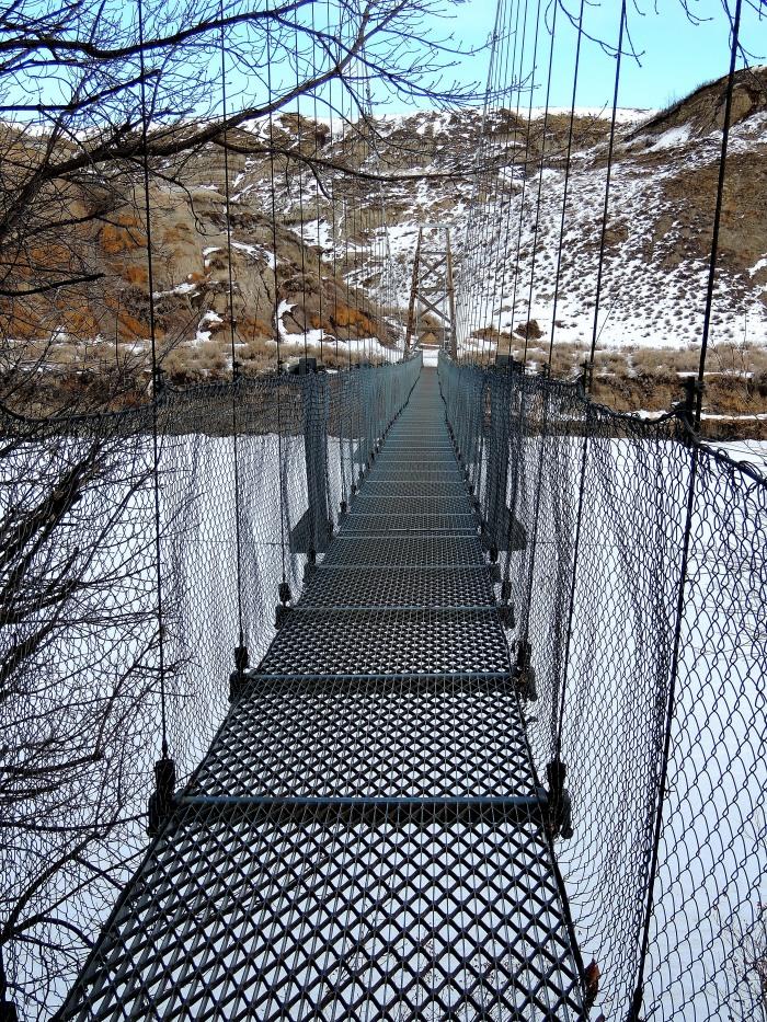 Suspension bridge along Highway 10
