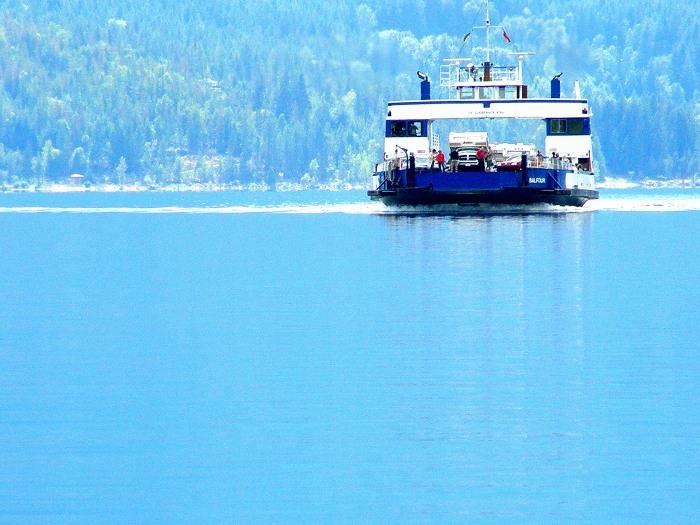 The BC Ferry - Balfour to Kootenay Bay, British Columbia, Canada