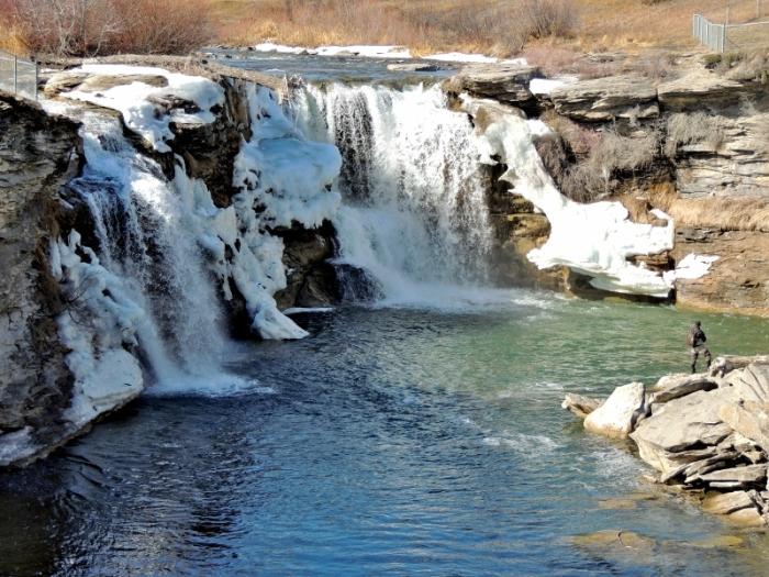 Lundreck Falls along Highway 3
