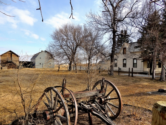 Michelson Farmstead, a favourite gathering place for residents of Stirling.  The farm is now a Provincial Historical Site.