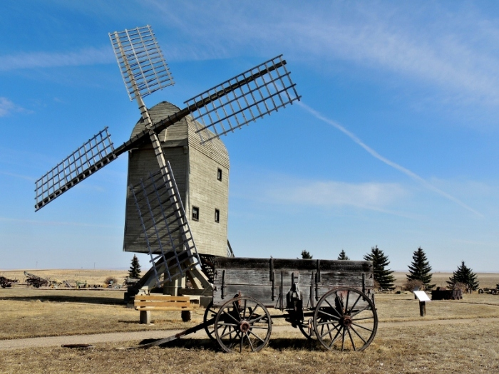Etzikom Windmill Museum, located in Etzikom, Alberta