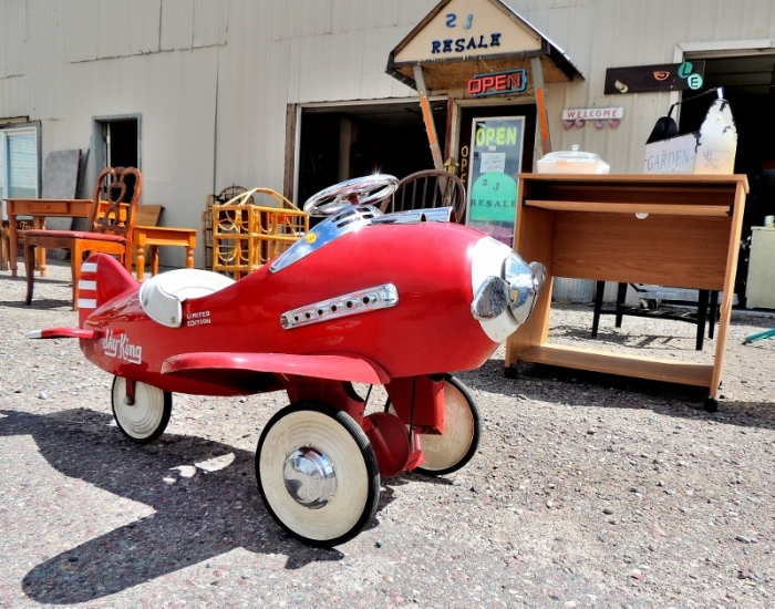 Why fly when you can drive, antiquing in Kalispell