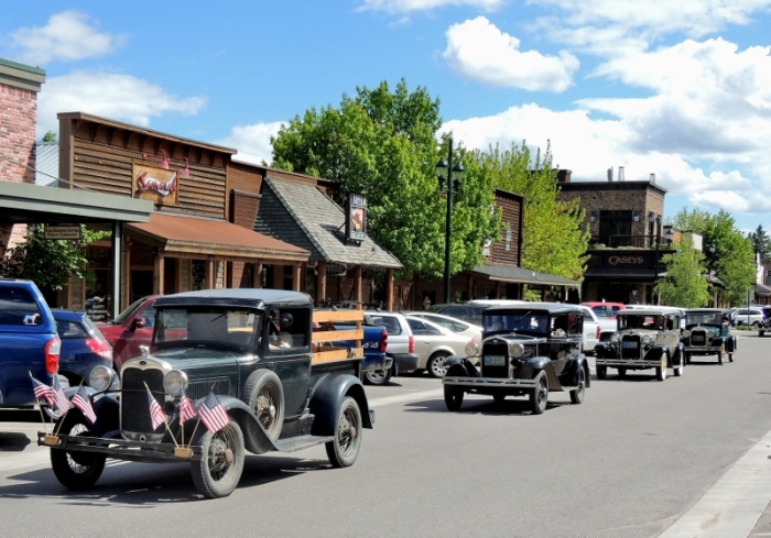 Memorial Day Weekend on the streets of Whitefish, Montana