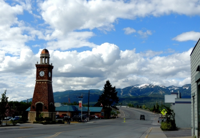 Walking around Whitefish, Montana