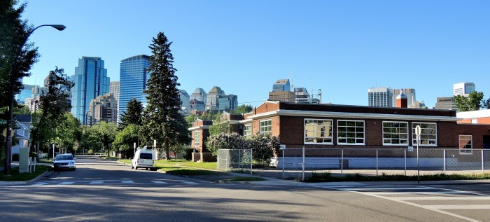 """Sunnyside School, built in 1919, is one of a number of small ""bungalow"" schools constructed between 1913 and 1920 to respond to Calgary's rapid growth.  These structures were originally meant to be converted to apartments after larger schools were built, but several of them live on."""