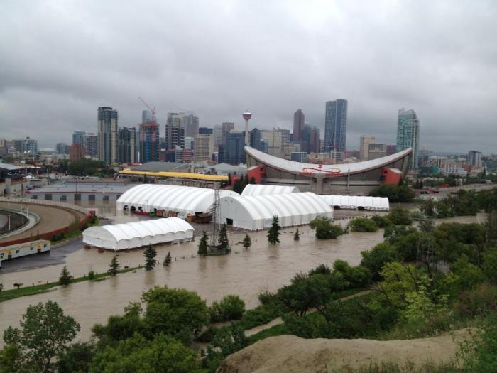 Taken by another media source - The Saddledome and stampede grounds.  The Calgary Stampede is to start in 2 weeks, the Mayor has stated that the show will go on.