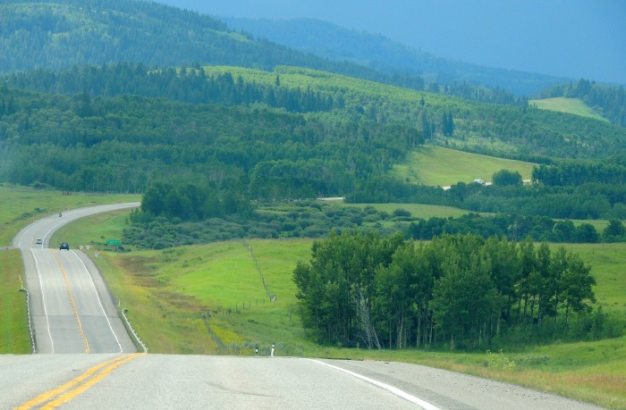 Approaching the Crowsnest Pass in southern Alberta...