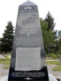 The Hillcrest Mines Monument...