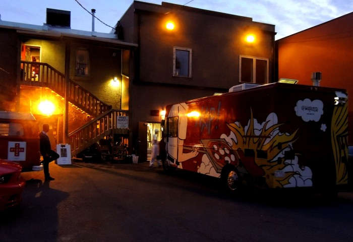 Where the restaurant meets the alley...