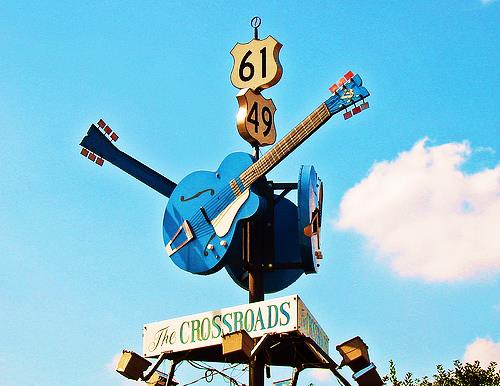 The Crossroads in Clarksdale...
