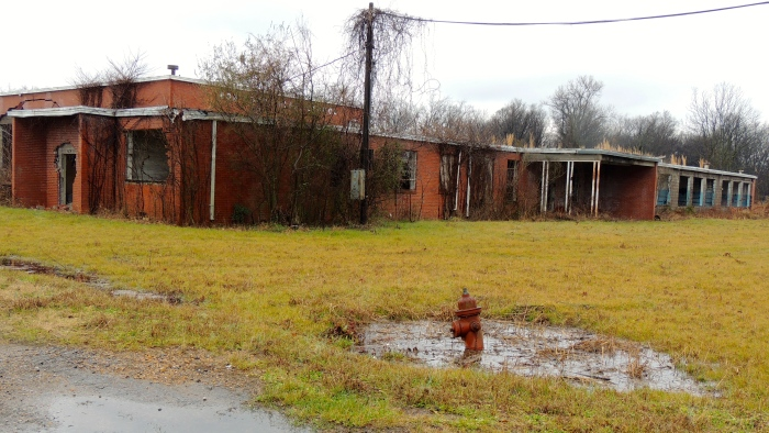 Abandoned elementary school of the northern Delta...
