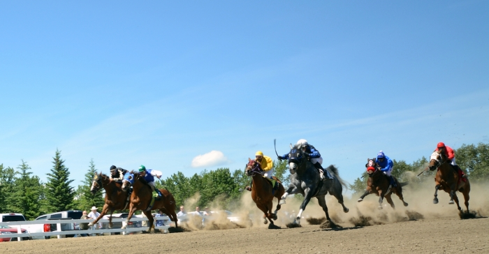 Enjoying the 109th Millarville Races this fantastic Canada Day...